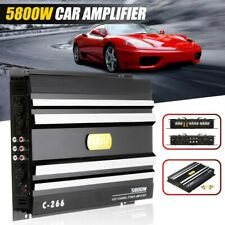 5800W 4 Channel Car Amplifier Stereo Audio Super Bass Subwoofer Power Amp 12V DC