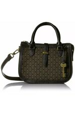 Fossil Ryder Jacquard Signature Leather Satchel Bag ZB7720015