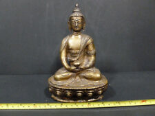 "ANTIQUE TIBET GORGEOUS BRONZE BUDDAH STATUE ( HEAVY ONE ) 8 "" H x 5"" W OLD 7166"