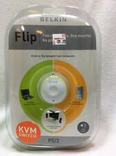 Belkin  Flip (F1DF102P) 2-Ports External KVM switch PS/2 BRAND NEW UNOPENED