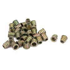 30 Pcs M6x10mm Hex Socket Screw in Thread Insert Nut for Wood T6F4