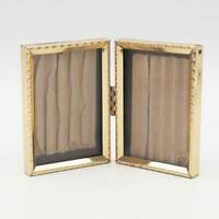 Vintage Goldtone Double Metal Picture Frame for 2-1/2 x 3-1/2