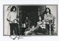 Deep Purple Autogramme signed 15x21 cm Karteikarte mit Magazinbild s/w