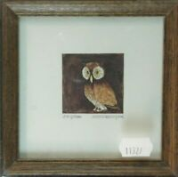 Unbekannter Künstler datiert numeriert signiert Holzrahmen 11,5x11,5cm K-1213