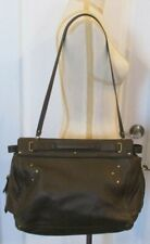 "JEROME DREYFUSS Brown Leather ""Carlos"" Double Handle/Shoulder Bag"