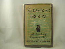 The Bamboo Broom Introduction to Japanese Haiku Harold Henderson Poetry 1934 FE