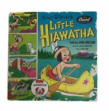 Vintage 1950s Walt DIsney Little Hiawatha 45 Capitol Records Bozo Approved