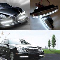 2 Pcs 12V Spot Light Driving Lamp Car Daytime Running Light 8 LED Work Lights