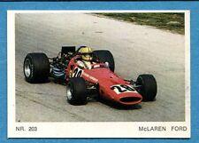MOTO - Ed. Raf - Figurina/Sticker n. 203 - McLAREN FORD -Rec