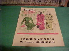 1944 SIMPLICITY [PATTERNS] PREVUE TOWNSEND'S DEPARTMENT [ADVERTISING CIRCULAR]
