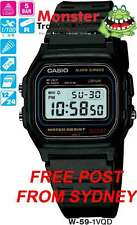 AUSSIE SELLER CASIO WATCHES W-59-1V W59 W-59 50-METRES 12-MONTH WARRANTY