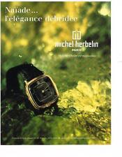 PUBLICITE ADVERTISING  1990  MICHEL HERBELIN   montres