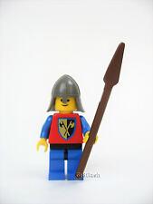 LEGO Castle Crusader Guard Minifig 6080 Cross Axe Blue Leg -Solid Stud Head