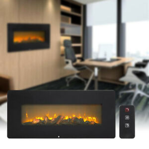 1400W Wall Hanging Fireplace Fake Wood Heating Wire With Small Remote Control
