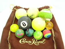 Vintage & Modern Ball Lot of 11 Balls RUBBER 8 BALL Tennis Golf Royal Crown Bag