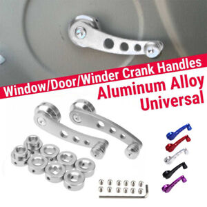 Set Billet Aluminum Universal Window Crank Handle for VW Jeep YJ Toyota Pickup