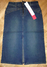 Calf Length Cotton Patternless Skirts for Women