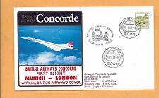 CONCORDE SST BRITISH AIRWAYS FIRST FLIGHT MUNICH-LONDON  AUG 1983  FLOWN ON