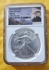 2015 MINT STATE NGC MS70 FIRST RELEASES BALD EAGLE ROCKY MOUNTAIN RANGE LABEL