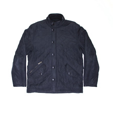 BARBOUR Powell Black Regular Quilted Jacket Mens L