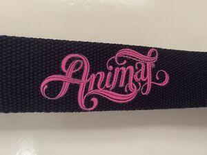 "Animal Ladies Belt Blue With ""Animal"" Written In Pink BNWT"