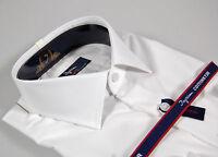 Camicia Ingram Slim Fit collo mezzo francese 100% Cotone No Stiro Taglia 39 M