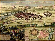 Le mappe VINTAGE CASALE MONFERRATO ITALIA Castle Art Print MP5009A