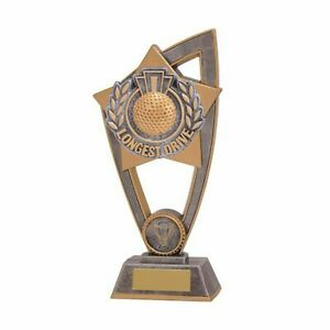 Longest drive Resin Trophy 2 sizes With Free Engraving up to 45 Letters