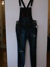 JUNIORS RUE 21 DISTRESSED OVERALL JEANS SIZE  5/6 (NWT)