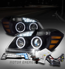 05-10 CHEVY COBALT HALO LED BLACK PROJECTOR HEADLIGHTS W/BLUE DRL KIT+XENON HID