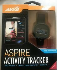 NEW AVIA Aspire Sport Smart Watch Mens Fitness Activity Tracker Pedometer Black