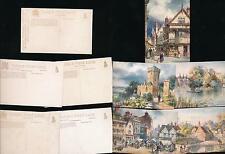 OXFORDSHIRE TUCKS OILETTE 7632 SERIES III ARTIST WIMBUSH...5 CARDS UNUSED
