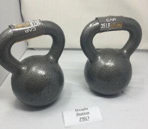 Cast Iron Kettlebell 5,10,15, 20, 25, 30 35,40,45 50 60 65 + PAIRS Choose Weight