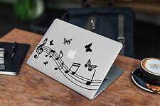Music Notes Decal for Macbook Pro sticker vinyl air mac 13 15 11 laptop skin DJ