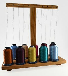 Thread Stand For Embroidery Sewing Machines - Handcrafted For 10 Spools Or Cones