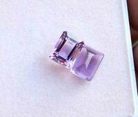 6.40 Cts Natural Square Cut brazilan Purple Amethyst Loose Gemstone