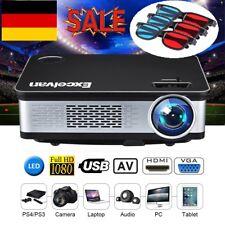 Excelvan Z720 Heimkino Beamer Projektor 6000Lumens 1080P LED HDMI VGA USB*2 AV