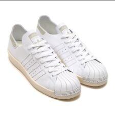 Adidas Superstar 80s Decon White Vintage Sz 13 Leather Sneakers Men Shoes BZ0109