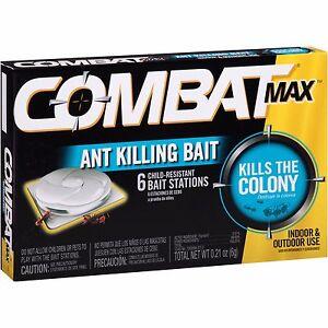 Combat Quick Kill Formula, Kilss Ants Quickly, 6 Bait Stations
