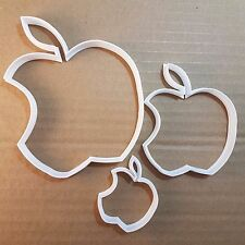 Apple Fruit Food Eaten Shape Cookie Cutter Dough Biscuit Pastry Fondant Sharp