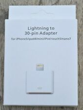 NEW | 1 PACK 8-pin lightning to 30 pin adapter converter for apple iphone/ipad