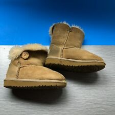 UGG Bailey Button Brown Boots Toddler 5991T Size 9