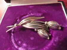 835 Silber Brosche Designer TEKA Theodor Klotz Pforzheim Blume Tulpe Jugendstil