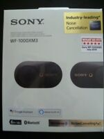 SONY WF-1000XM3 WIRELESS NOISE CANCELLING IN-EAR HEADPHONES HEADSET *BLACK*