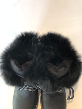 BLACK TIMBERLAND BOOTS WITH FUR ANKLE SIZE 3 WORN ONCE IN HOUSE