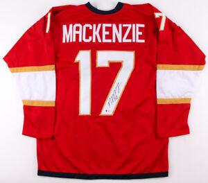 Derek MacKenzie Signed Panthers Jersey (Beckett COA) former Florida Team Captain