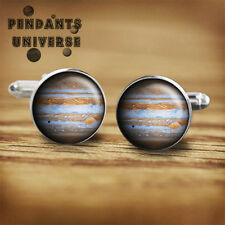 Jupiter planet cufflinks astronomy geeks nerds gift handmade cuff links