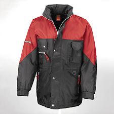 Result Multi Pocket Hi-active Jacket Coat Black/red XXL 50 Mens Womens Windproof