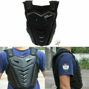 Motorcycle Motocross Motorbike Body Armour Protective Gear Chest Protector Black