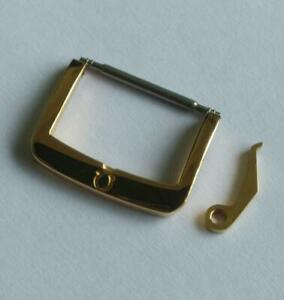OMEGA AUTHENTIC 16mm BRACELET BAND GOLD PLATED GENUINE WATCH BUCKLE